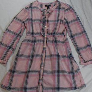 Gap Kids Pink Plaid Dress